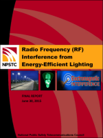 RF Interference from Energy Efficient Lighting